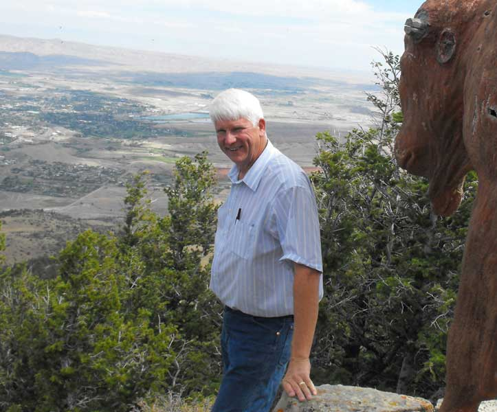 Jim Bender on Cedar Mountain above Cody